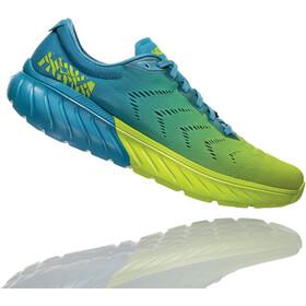 Hoka One One Mach 2 Running Shoes Herren storm blue/lime green